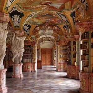 Klosterbibliothek, Metten, Germany
