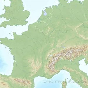 westerneurope blank physical map