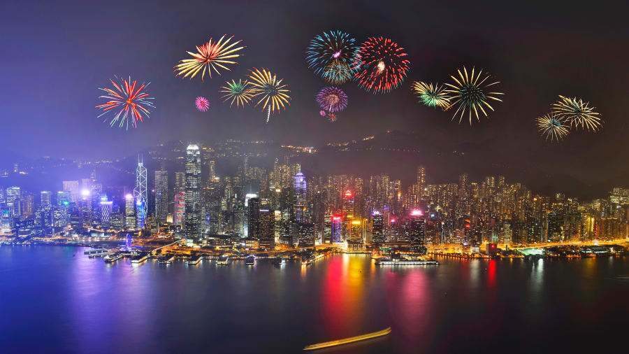Hong Kong Fireworks over Victoria Harbour is a sight onlookers will never forget.