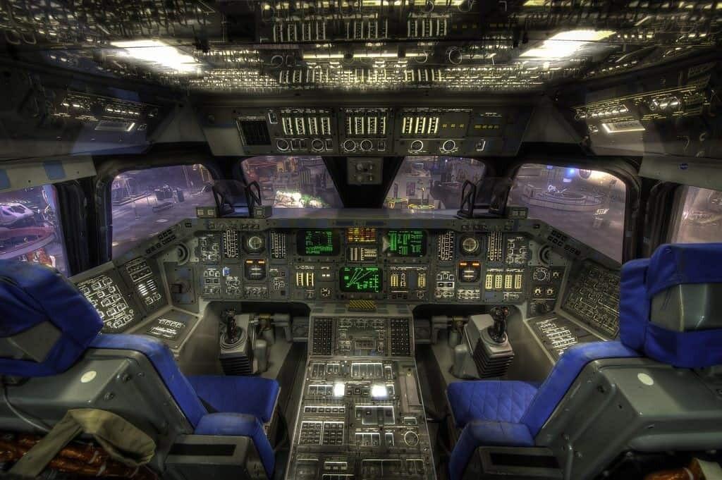 Shuttle Cockpit Space Center Houston 1